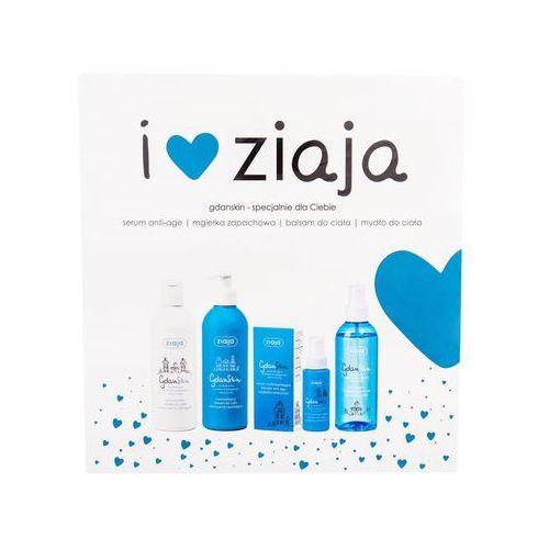 gdanskin zestaw 50 ml serum do twarzy 50 ml + balsam do ciała 300 ml + mydło 300 ml + mgiełka nawilżająca 200 ml dla kobiet marki Ziaja