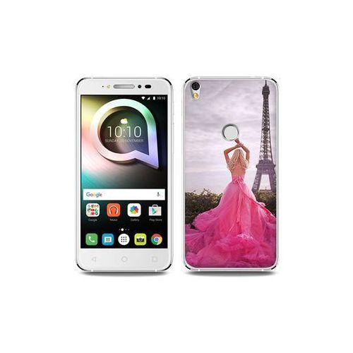 Alcatel Shine Lite - etui na telefon Foto Case - różowa sukienka, kolor różowy