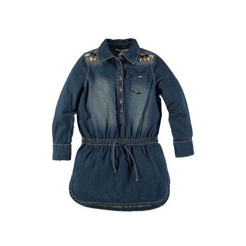 Dżinsowa sukienka w kolorze niebieskim | rozmiar 128 (sukienka dziecięca)