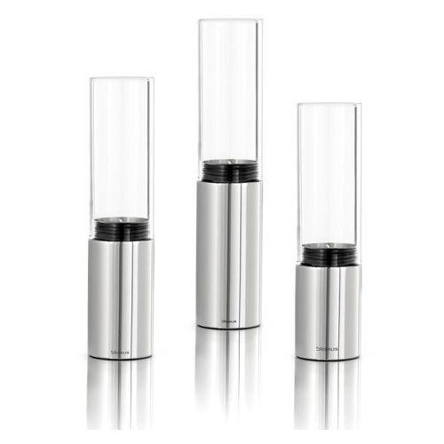 Blomus faro - komplet 3 świeczników - szkło przejrzyste