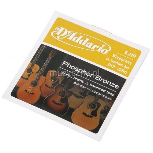 D′addario ej19 struny do gitary akustycznej phosphor bronze, bluegrass, 12-56