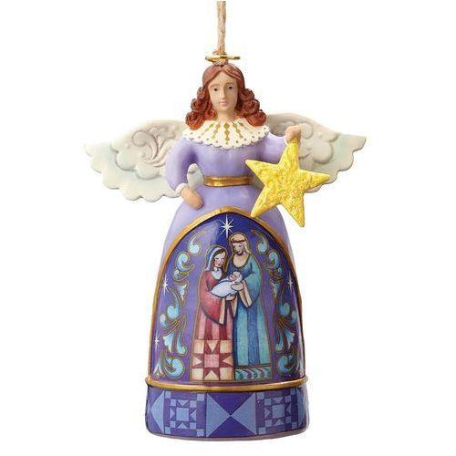 Jim shore Anioł i szopka gwiazda zawieszka mini angel with star 4055132 figurka ozdoba świąteczna