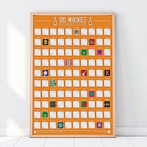 Plakat Zdrapka 100 Whisky, które trzeba skosztować, bl1#5