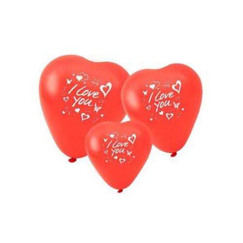 """Baloniki w kształcie serca zestaw baloników z napisem """"I love you"""" FACKELMANN 50125"""