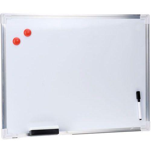 Emako Biała, magnetyczna tablica na notatki + akcesoria, 60 x 45 cm