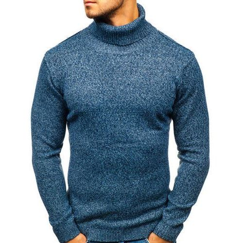 Hot red Sweter męski golf niebieski denley h1800