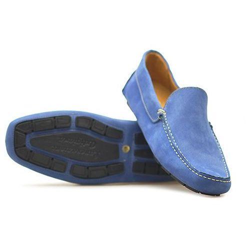 Mokasyny 6030 nab azzu niebieskie nubuk marki Venezia