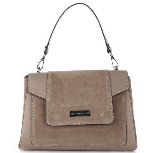 bb7dfd0b86301 Włoskie klasyczne torebki ze skóry naturalnej firmy ziemiste (kolory) marki Vittoria  gotti 300