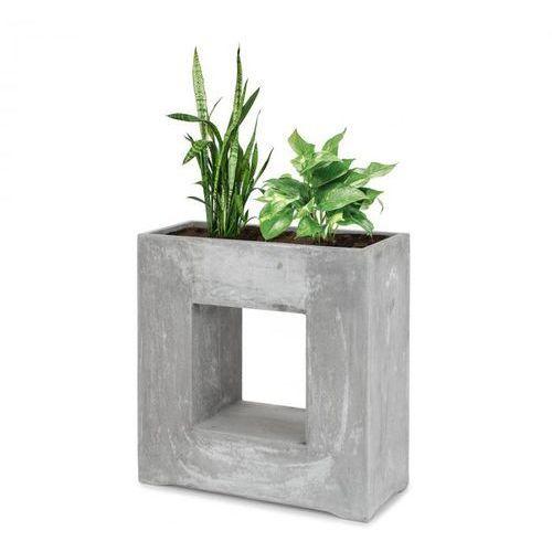airflor doniczka na rośliny 70x70x27cm włókno szklane do wewnątrz/na zewnątrz jasnoszary marki Blumfeldt