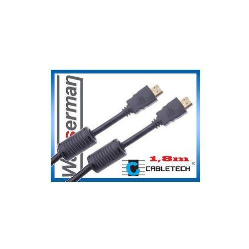 Kabel hdmi 1,8m  wyprodukowany przez Cabletech