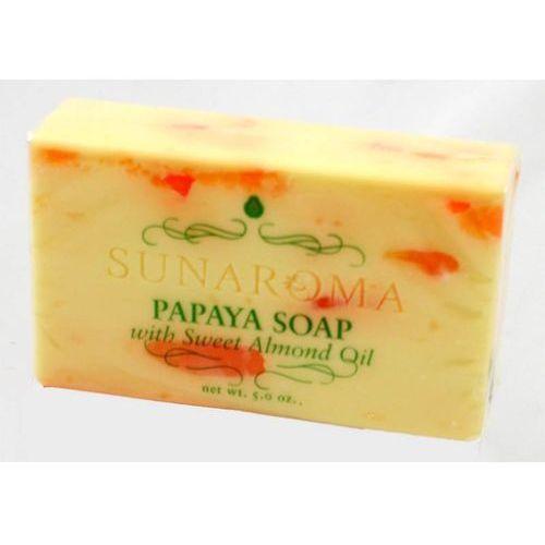 Papaya Soap whit Sweet Almond Oil - Mydło w kostce