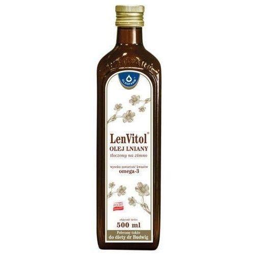 LENVITOL Olej lniany Budwigowy nieoczyszczony 500ml