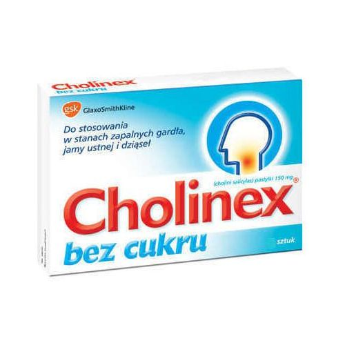 Pastylki Cholinex bez cukru x 24 pastylki do ssania