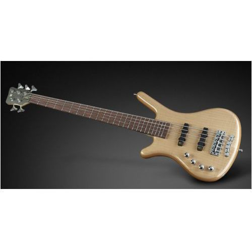 RockBass Corvette Premiuim 5-str. Natural Transparent High Polish, Active, Fretted, Lefthand gitara basowa