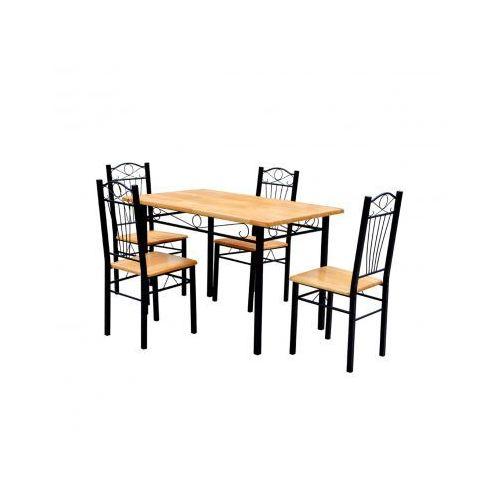 Stół kuchenny z 4 krzesłami w kolorze jasnego drewna., marki vidaXL do zakupu w VidaXL