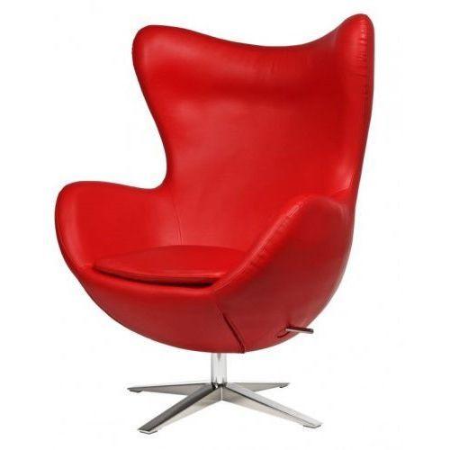 Fotel Jajo Soft skóra ekologiczna 513 czerwony outlet, 94140 (7991943)