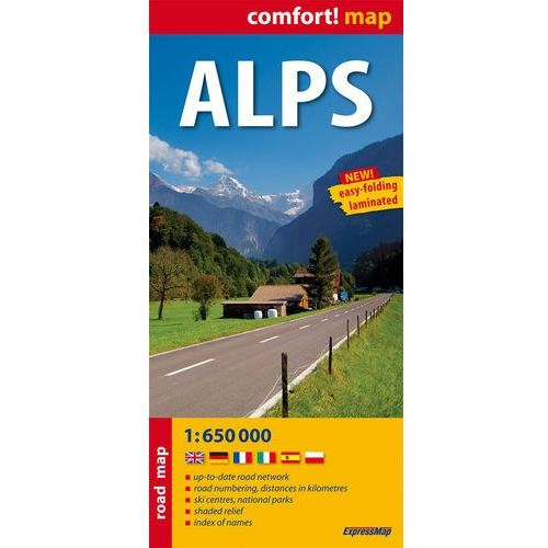 Alps laminowana mapa samochodowa 1:650 000 (2 str.)
