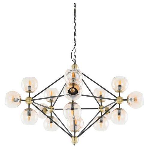Lampa wisząca Italux Rebekka 10293/17P zwis 17x60W E14 czarna / brąz / złota, 10293/17P