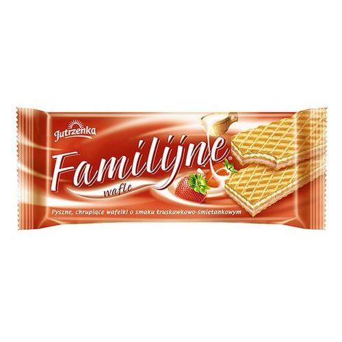 Wafle Familijne o smaku truskawkowo-śmietankowym 180 g (5900352000688)