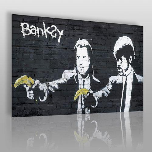 Banksy - Pulp fiction - nowoczesny obraz na płótnie