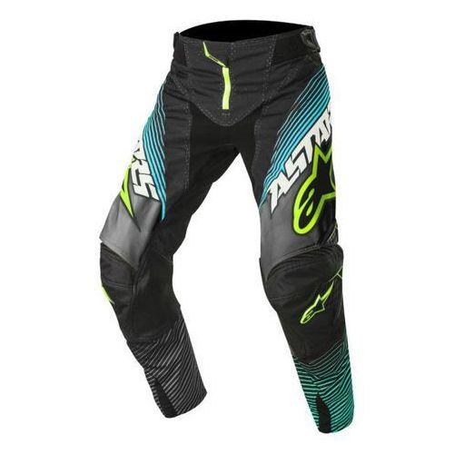 Spodnie alpinestars techstar factory s7 bl/te/yel f marki Alpinestars mx