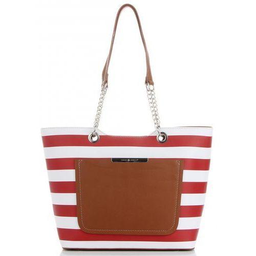 92f54991ef836 Modne Torebki Damskie w paski marki David Jones w rozmiarze XL Czerwone  (kolory) 119,00 zł Designerska i poręczna torba firmy David Jones to  znakomita ...