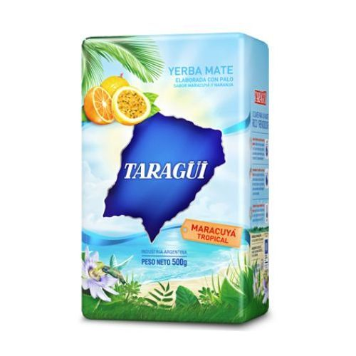 Yerba mate taragui, argentyna Yerba mate taragui tropical z marakują i pomarańczą 500g