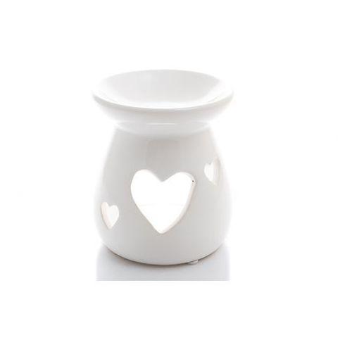 Home Kominek na olejek biały ażurowy ozdobny serca