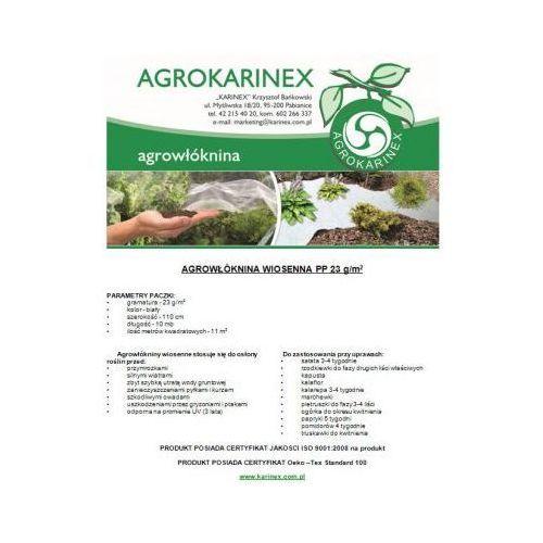 Agrowłóknina wiosenna PP 23 g/m2 biała 1,1 x 10 mb. Paczka o wadze 0,3 kg - produkt z kategorii- folie i agrowłókniny