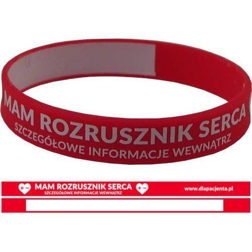 Opaska silikonowa na nadgarstek - mam rozrusznik serca marki Dlapacjenta.pl - odzież medyczna