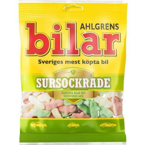 Ahlgrens bilar - sursockrade - kwaśne pianki w ksztalcie samochodów - 100g - ze szwecji