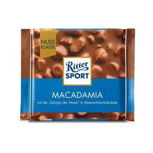 Czekolada mleczna z kawałkami orzechów makadamia 100 g marki Ritter sport