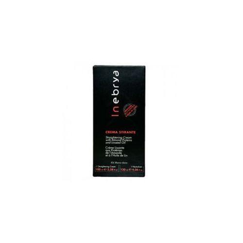 straight cream kit, krem do prostowania włosów, 100ml+120ml marki Inebrya