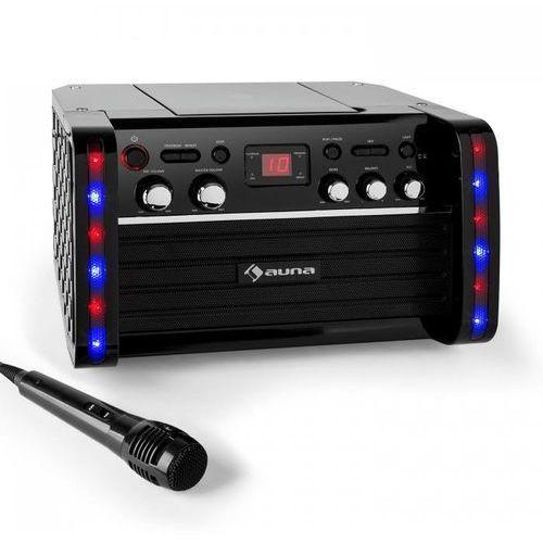 Zestaw karaoke disco fever odtwarzacz cd-/cd+g uchwyt na tablet marki Auna