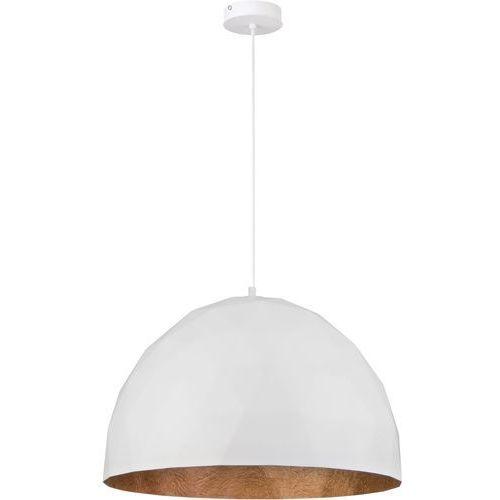 Sigma Lampa wisząca 1x60w e27 diament l biały/miedź 31370