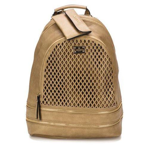 76d9c001123f8 Bessie London plecak damski brązowy 228,00 zł Plecak kobiecy firmy Bessie  London z perforacją na przedniej kieszeni.