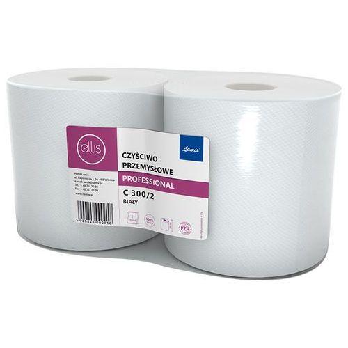 Czyściwo przemysłowe w roli ellis professional 2 warstwy 290 m biały celuloza marki Lamix