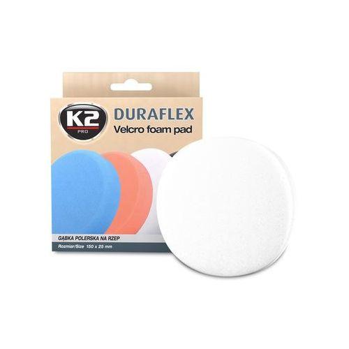 K2 Duraflex - biała gąbka polerska na rzep gąbka lekkościerna, średnio twarda - szt