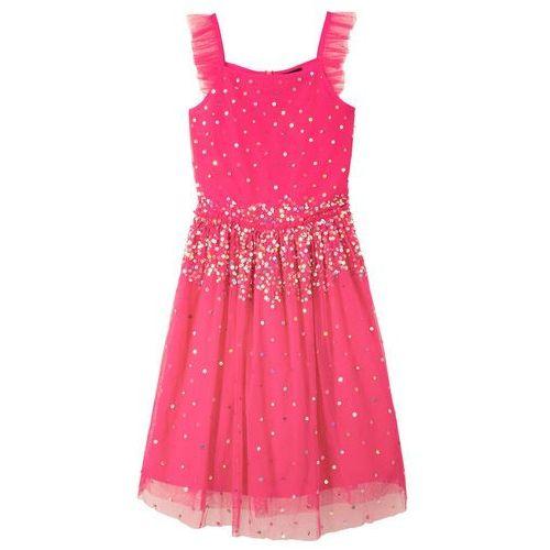 3250a1a71a Sukienka z cekinami różowy hibiskus marki Bonprix 109