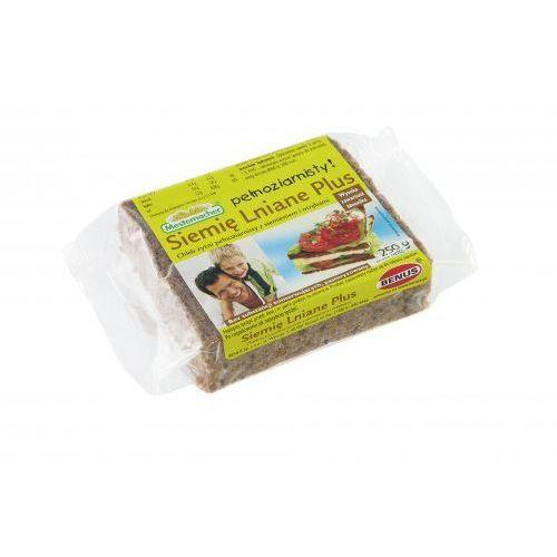 Chleb plus żytni pełnoziarnisty z siemieniem i otrębami 250 g marki Benus