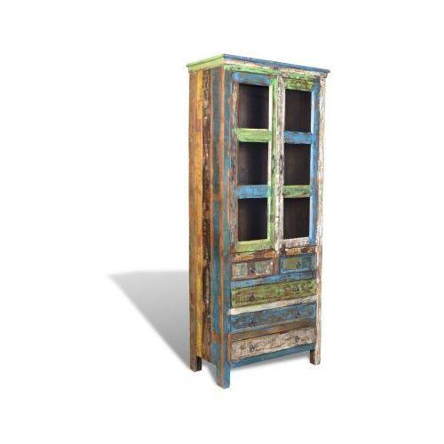 Półka na książki Regał vintage z 5 szufladami 2 drzwi, vidaXL z VidaXL