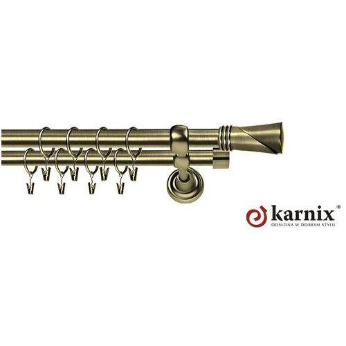 Karnisz Metalowy Rzymski podwójny 19/19mm Loca antyk mosiądz - sprawdź w ikarnisze.pl - Home&Design