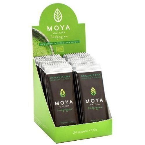 Organiczna japońska zielona herbata matcha tradycyjna w saszetkach 1,5g - moya matcha marki 072moya matcha