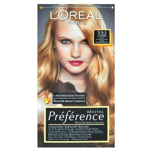 LOREAL PARIS Recital Preference Farba do włosów X 8.3 Cannes Jasny Złocisty Blond