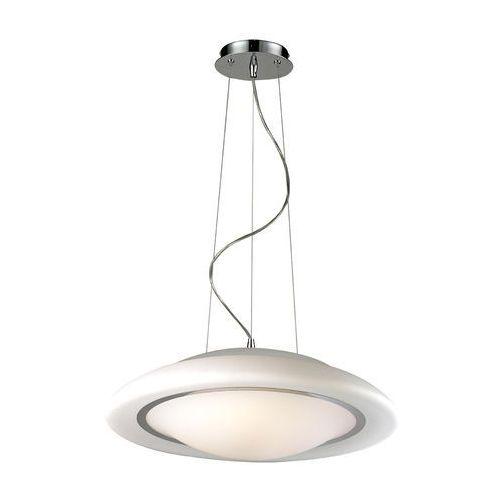 Lampa wisząca huller 8956-sp zwis 2x60w e27 biały / chrom marki Italux