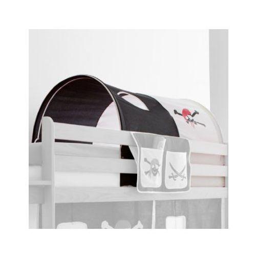 Ticaa tunel do łóżek piętrowych pirat kolor biało-czarny marki Ticaa kindermöbel