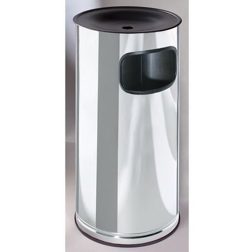 Popielniczka stojące ze stali szlachetnej z pojemnikiem na odpady, wys. 710 mm,