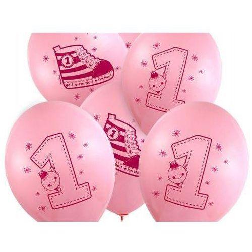 """Party deco Balon z nadrukiem dla dziewczynki """"bucik - i'm number 1"""" - 37 cm - 50 szt."""