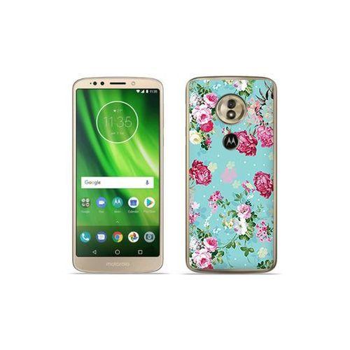 etuo Fantastic Case - Motorola Moto G6 Play - etui na telefon Fantastic Case - różyczki na miętowym tle