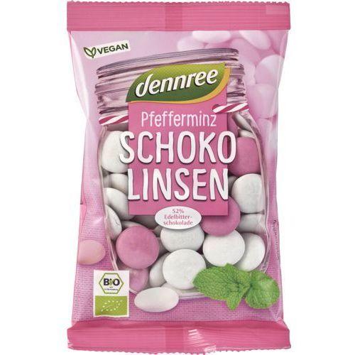 Dennree (dżemy, miody, herbaty) Drażetki miętowe w ciemnej czekoladzie bio 100 g - dennree